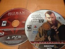 Lot Of 2 Games Gta IV 4 & Hitman: Absolution Playstation 3 Game PS3