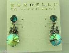 Sorrelli Viridescence Earrings Ecl15Asvr antique silver tone