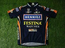 rare Cycling Shirt Jersey Trikot Henniez Sms Santini Shimano Festina Size Xl