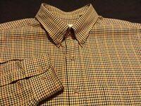 Viyella Mens XL L/S Button-Down Wool Blend Multicolor Plaid Check Flannel Shirt