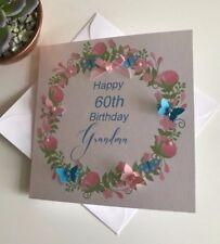 HANDMADE PERSONALISED BIRTHDAY CARD MUM GRANDMA NANA SISTER 50TH 60TH 70TH 80TH