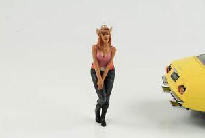 Figurine Western Style Woman Girl Cowboy 1:18 American Diorama VII No Car