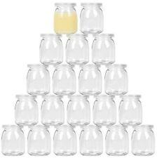 20 pack-7 oz Yogurt Jars, Clear Glass pudding Jars With Lids, Yogurt Glass Jar