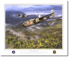 Precision Bombing in the Upper Faria River Valley by Jack Fellows- B-25 Mitchell
