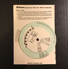 Vintage Nikon Exposure Dial for Slide Copying Guide
