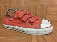 RARE🔥 VANS Off The Wall Triple Velcro Orange Brick Canvas Shoes 9 Low Vault LE