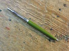 Vintage Olive Green Domed Top Brass Threads PARKER Jotter Mechanical Pencil Pen