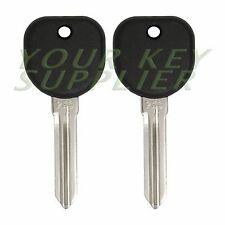 2 New Uncut Replacement Transponder Ignition Chip Car Key for select GM vehicles