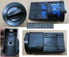 VW Golf 4 IV 1C0941531 Lichtschalter Drehschalter Schalter schwarz ohne NSW