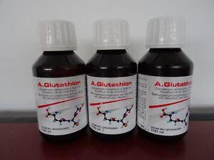 A . GLUTATHION ANTIOXYDANT ANTI-AGE  3 X 100ML 05/2022