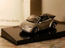 AUTOART VW NEW BEETLE DEALER - EDITION SILBER CABRIO 1:43 NEW