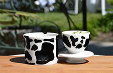 Black & White Cow Pattern Butter Bell Crock