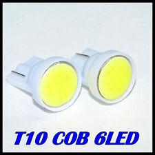 2x T10 COB 6LED de alta potencia 2W para coches.