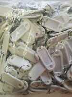 200 Schlüsselschilder mit Ring zum Beschriften Schlüsselanhänger weiß