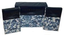 Ralph Lauren Dorsey Porcelain Blue Lotus Blossom 3P King Duvet Shams Set New