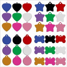Wholesale 80pcs Blank Personalized Tags for Dogs Custom Engravable Dog Collar