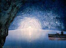 Blue Grotto, Capri Island 1890, Vintage Antique Style, HD Art Print or Canvas