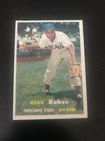 1957 TOPPS #176 GENE BAKER CHI CUBS— CREASE FREE💥*** (wph)
