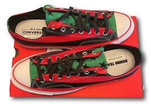 Converse 12 Denim Tears Chuck 70 Sneaker Men's Low Black Red Stripe Free Ship
