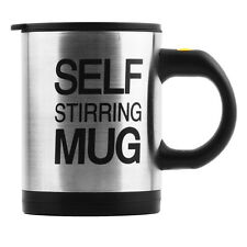 Self Stirring Mug Button Pressing Automatic Plain Mixing Coffee Tea Cup GA