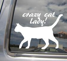 Crazy Cat Lady - Funny Humor Kitten - Car Auto Vinyl Die-Cut Decal Sticker 01011