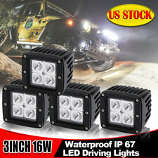 """4X 3"""" 16W LED Cubic Pod Lights Front Bullbar For Truck Off-Road ATV 4WD 4x4"""