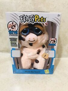New Feisty Pets Mort The Snort  Growl Plush Animal Shows Teeth When Squeezed