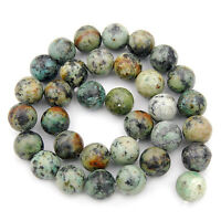 Natural African Turquoise Gemstone Round Spacer Beads 16'' 4mm 6mm 8mm 10mm 12mm