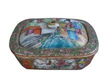 boite à savon porcelaine Chine Canton XIXème