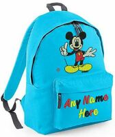 PERSONALISED MICKEY MOUSE DESIGN RUCKSACK,BACKPACK for infants Juniors