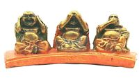 Set Of 3 Wise Monk Buddha Ornament Statue Figurine Decor Hear See Speak No Evil