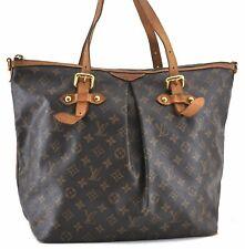 Authentic Louis Vuitton Monogram Palermo GM Shoulder Tote Bag M40146 LV B7578