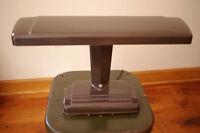 """Vintage 50s Chocolate Brown Metal Enamel Drafting Industrial Era Desk Lamp 19.5"""""""