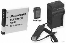 NB-8L Battery + Charger for Canon A2200 IS A3000 IS A3100 IS A3200 IS A3300 IS