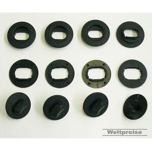 Ford Mondeo 4 x Fußmatten Gummimatten Befestigungen Clips Halter Set oval