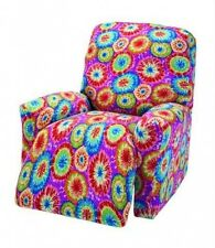 TIE DYE-RECLINER COVER-ALSO IN SOFA COUCH LOVESEAT CHAIR FUTON SLIP COVERS
