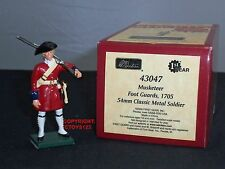 Britains 43047 mousquetaire foot guard 1705 tuniques rouges en métal toy soldier figure