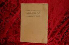 Libro 1916 Notizie dei Nuovi Impianti di Custodia Valori Cassa Risparmio Bologna