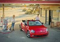 2013 VOLKSWAGEN BEETLE CABRIOLET NEW A3 CANVAS GICLEE ART PRINT POSTER FRAMED