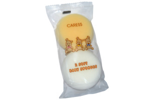 Caress 2 Pack Soft Baby Sponges - Soft And Gentle For Delicate Skin.