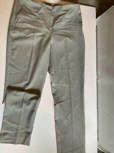 #728 Womens Grey Smart Trousers Marks And Spencer Size 14