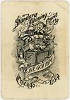 "Antique Standard Playing Card Co. Joker ""I've Got Him"" Train Back Circa 1890's"