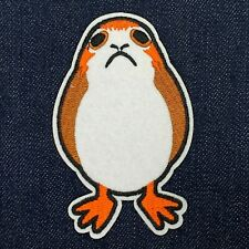 "STAR WARS LAST JEDI PORG IRON ON PATCH 2.5"" x 4"" FREE SHIPPING"