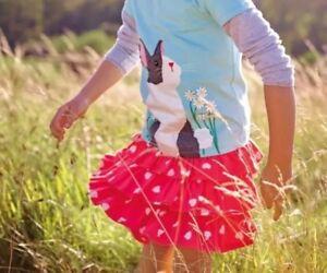 NWT Mini Boden Girl's Ruffle Skirt W/shorts, Size 2-3