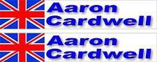 Kart Drivers Custom Name Sticker Graphic, Rotax, Cadet, TKM Gerbox