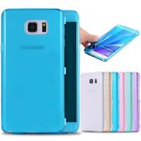Clear Slim Shockproof Flip Silicone Case TPU Gel Cover Bumper for Samsung iPhone