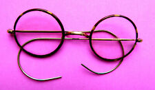 Antique Faux T Shell Framed Round Eye Glasses.