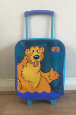 Bear In The Big Blue House Kids Child's Trolley Suitcase Cabin Bag Wheels Henson