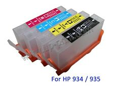 For HP officejet 6230 6812 6815 6830 6835 4pcs 934 935 refillable ink cartridge