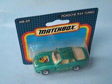Matchbox Porsche 944 Turbo Met Green Body in BP Toy Model Car 70mm